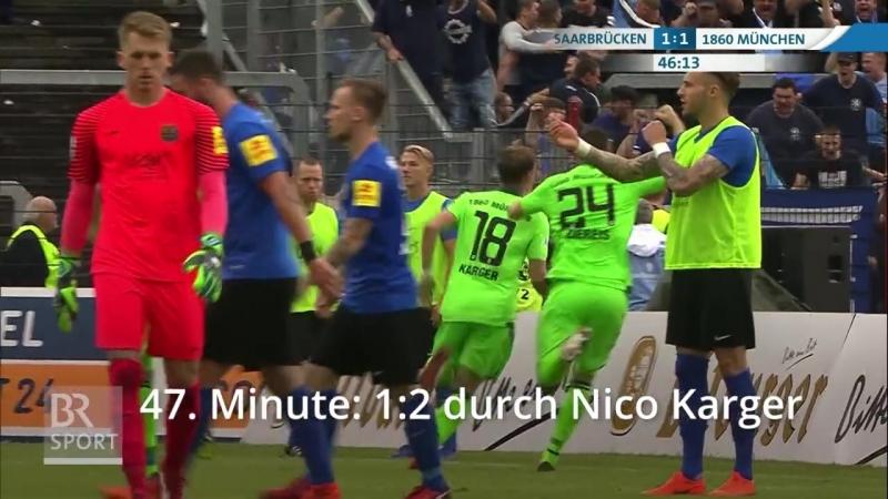 Саарбрюккен 2:3 Мюнхен 1860 (24.05.2018)
