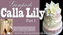 Gumpaste Calla Lily Part 1 Tutorial