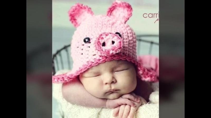 Детские шапочки Свинка. Вдохновение