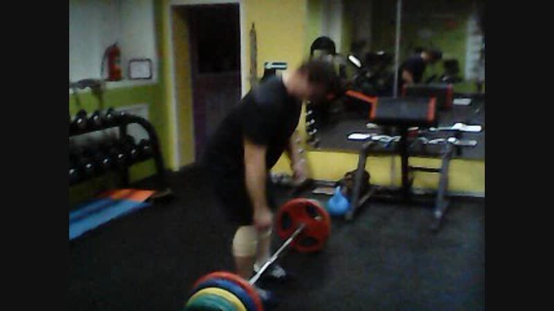 Становая тяга 180 кг на пять повторений