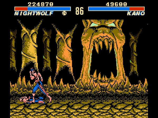 Ultimate Mortal Kombat 3 Hack NES - Nightwolf Gameplay