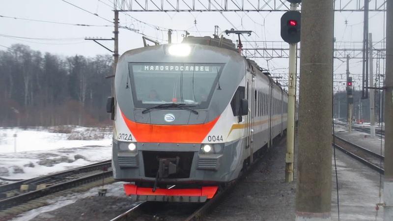 Электропоезд ЭП2Д-0044 ЦППК станция Бекасово-1 8.03.2019