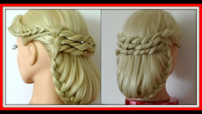 TWISTED LACE BRAID TUCK UNDER HAIRSTYLE HairGlamour Styles