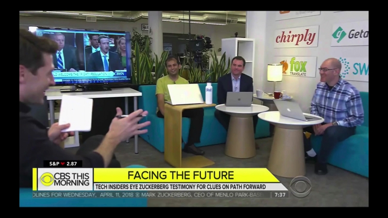 CBS This Morning - Facebook Founders Space