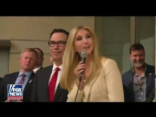 Secretary Mnuchin and Ivanka Trump unveil a plaque during US Embassy ceremony. - - We welc