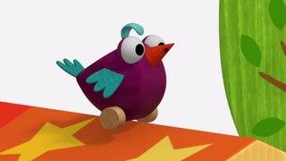 Деревяшки - Птичка 🐤 - Серия 30 - развивающие мультики для малышей