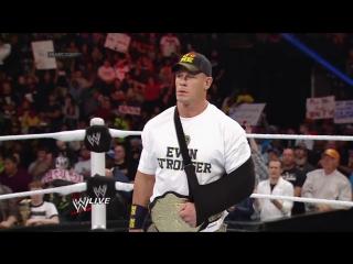John Cena attacks Alberto Del Rio_ Raw, Nov. 18, 2013