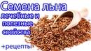 Семена льна Лечебные и полезные свойства РЕЦЕПТЫ
