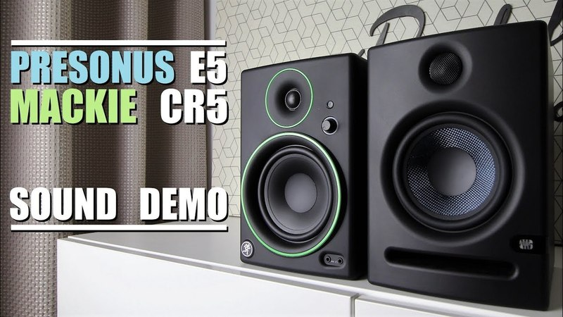 Mackie CR5 BT vs Presonus Eris E5 || Sound Demo w/ Bass Test