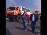 Владимир Путин на Крымском мосту