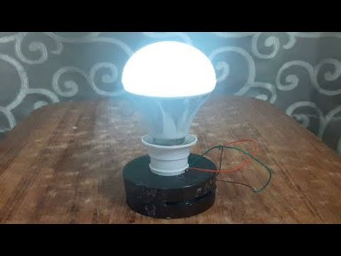 Free energy electricity generator using Magnet and copper wire self running 12v light Bulb 2018