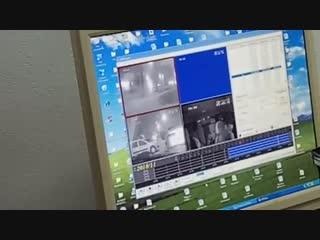 Судья смотрит видео с Аленичевым из патрульного авто