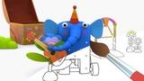 ДЕРЕВЯШКИ - Музыка - Мультик Раскраска с Деревяшками - Учим Цвета и Раскрашиваем Мультики с детьми