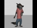 Анимация движений волка из Зверополиса