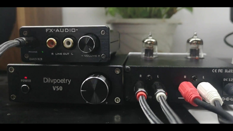 Dilvpoetry 6J1 hifi vacuum tube amplifier test