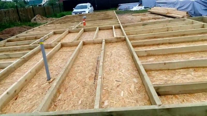 второй день строительства каркасной бани в Щёлковском районе село Трубино