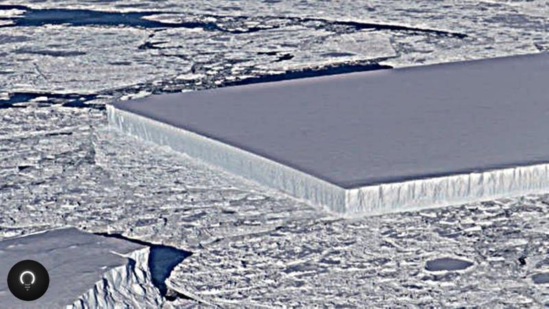 Dois enormes icebergs retangulares são encontrados na Antártida