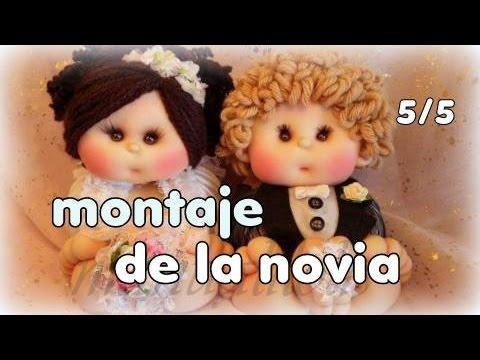 Muñecos novios ,hoy montaje de la novia y fin del curso 5/5 video-244