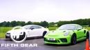 Fifth Gear: Porsche 911 GT3 RS Vs Nissan GTR Nismo