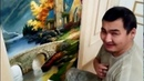 барельеф ИРИСЫ и роспись томас кинкейд изюминка в итерьере