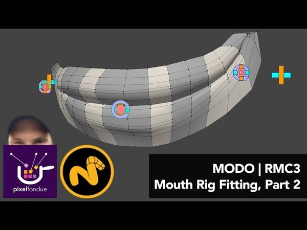 MODO | Rigging Mouth Rig Fitting, Part 2