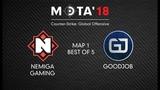 Nemiga Gaming vs GoodJob, Map 1 МЭТА`18. Winter
