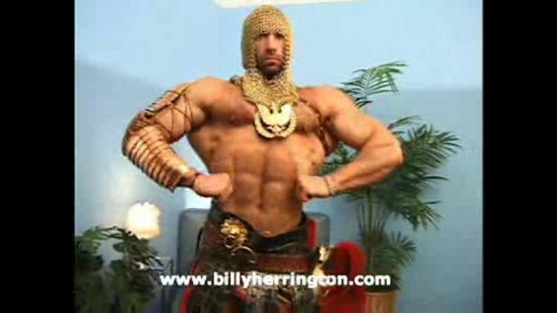 Gachimuchi Billy poses in the form of a gladiator №1 Билли позирует в форме гладиатора №1