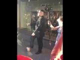 Двойник Ким Чен Ына на Красной Площади играет в мяч мяч