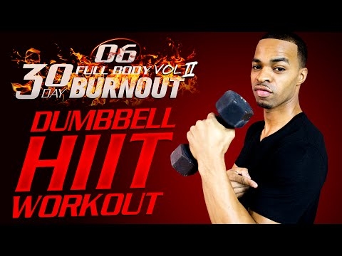 45 Min. Total Body Light Dumbbell Abs Workout | Day 06 - 30 Day Full Body Burnout Vol. 2