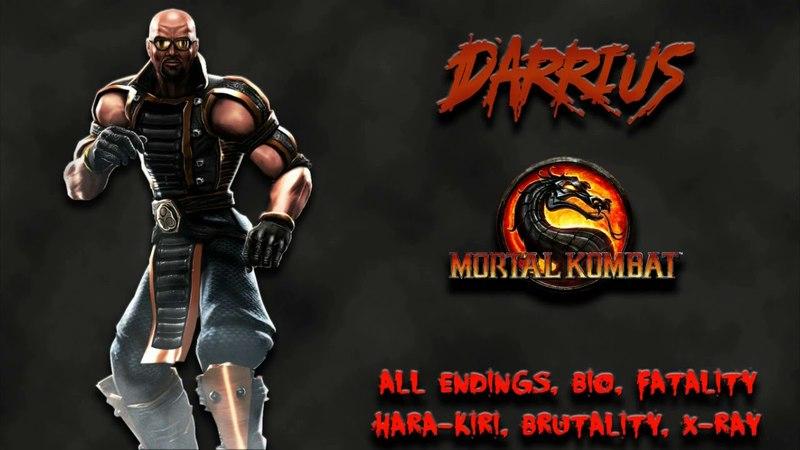 Mortal Kombat - All Fatality, Bio, Ending - Darrius