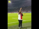 "Ajax fans singing ""Three Little Birds"" with Bob Marley's son Kymani Marley"