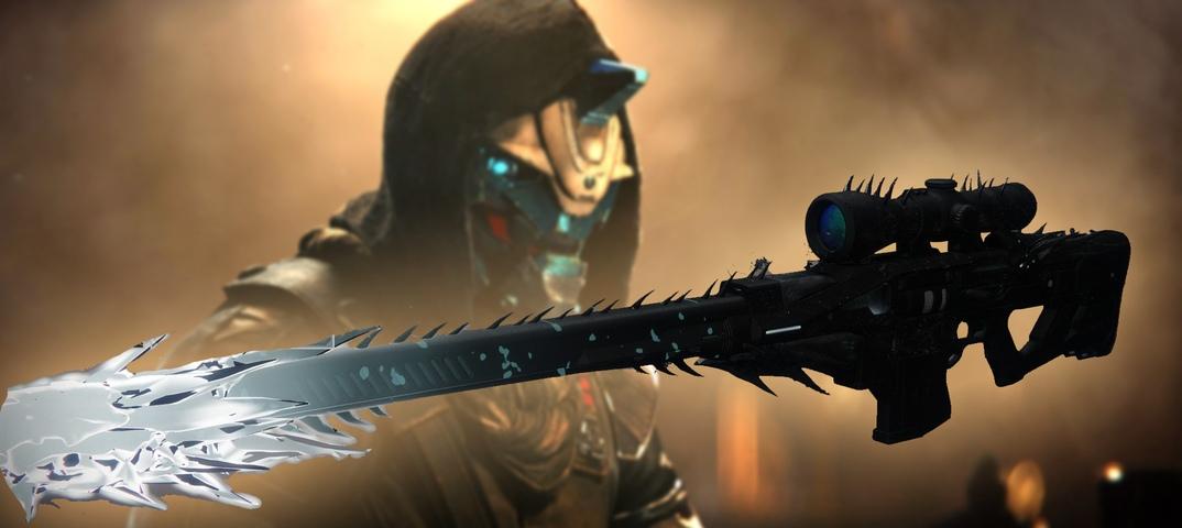 """Ищу модель снайперской винтовки """"шепот червя"""" из игры Destiny 2."""