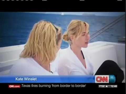 Kate Winslet Sailing with Richard Branson 2011 part 1