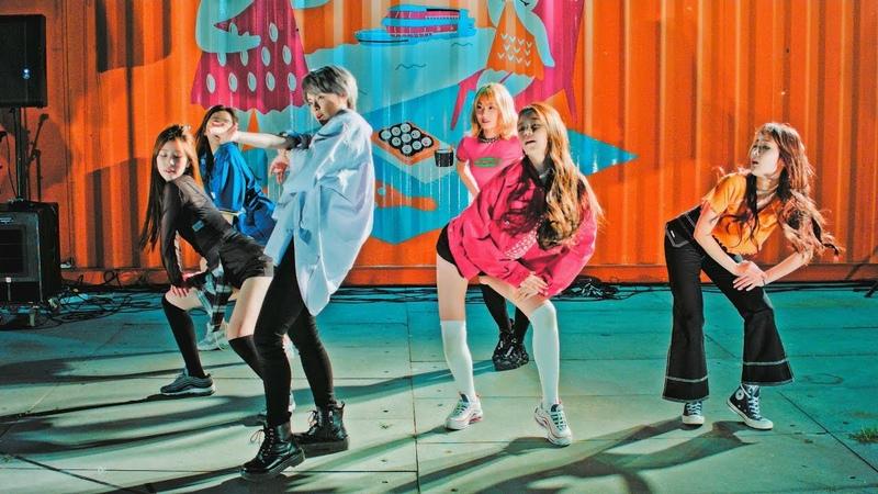 공원소녀 (GWSN) Dance Cover I.O.I _ Very Very Very(너무너무너무)@180707 여의도 한강 버스킹 [4k Fancam/직캠