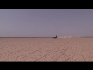 US Special Forces prepare a dirt landing strip on Dirt bike for the biggest plane