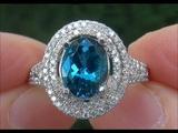 GIA Certified VVS Natural BLUE Tanzanite Diamond 14k White Gold Estate Ring - C845