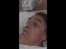 O @jairbolsonaro mandando um recado para o povo brasileiro depois da cirurgia Que Deus te