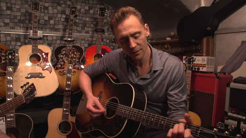 HD Tom Hiddleston sings Hank Williams in a London guitar shop