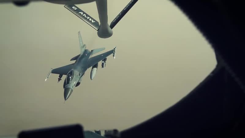 28th EARS Refuels F16s and F15s in Support of Operation Inherent Resolve QAT.2018