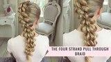 The Four Strand Pull Through Braid by SweetHearts Hair