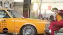 Joker Hit By Car For Stunt Scene - Joaquin Phoenix in Full Makeup and Costume