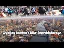 Cycling London's Bicycle Super Highways (с субтитрами)