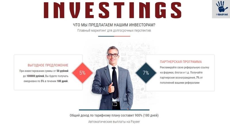 INVESTINGS заработок 900% за 180 дней