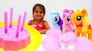 Розовая вечеринка Литл Пони. Мультики для девочек