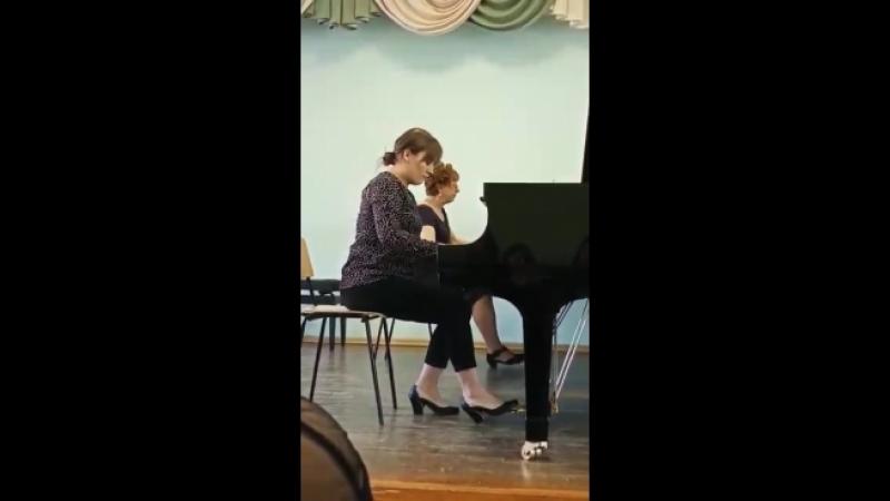 В.А.Моцарт Концерт фортепиано с оркестром 2 часть Исполнитель:Коваль Виктория Концертмейстер: Абакумова Т.А.