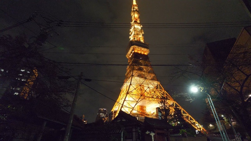 【4K】Walking from Roppong Hills Christmas illumination to Tokyo Tower