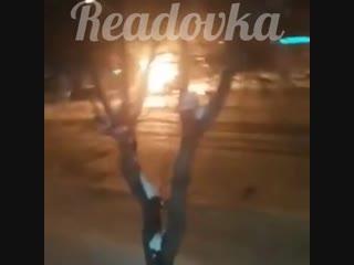 Стрельба на месте взрыва маршрутки в Магнитогорске