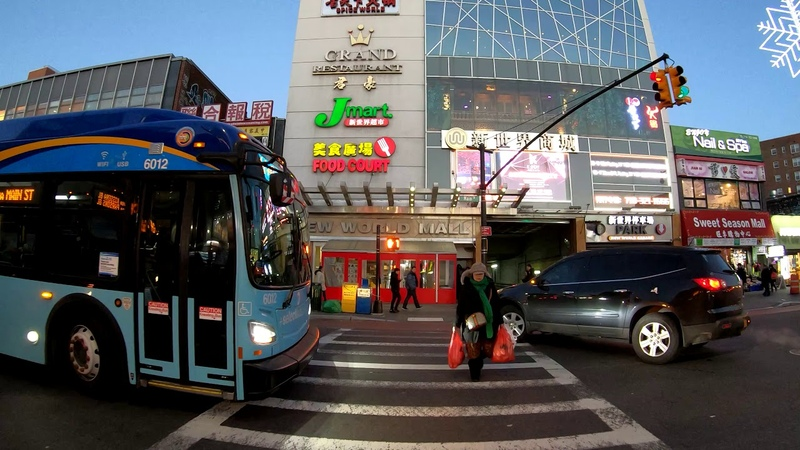 ⁴ᴷ⁶⁰ Walking NYC (Narrated) Downtown Flushing, Queens (Main St, Kissena Blvd, Union St, Prince St)