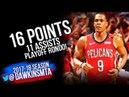 Rajon Rondo Full Highlights WCR1 Game 3 Pelicans vs Blazers - 16-11Asts! FreeDawkins