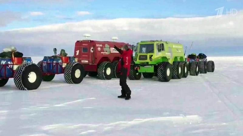 Валдис Пельш стал участником первого вистории автопробега через самые опасные места ледового континента. Новости. Первый канал